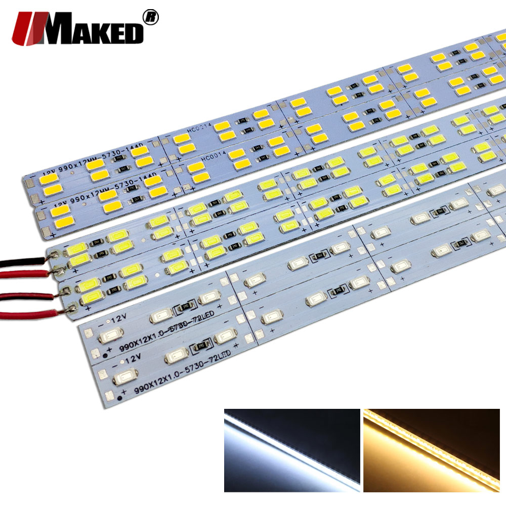 100pc DC12V 100cm LED Bar Lights Supper Brightness LED Rigid StripSMD5730 LED Fluorescent Energy Save Light&Lightinng Wholesale