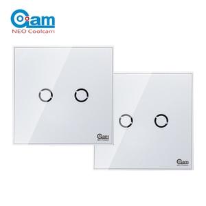Image 1 - NEO COOLCAM NAS SC01Z interruptor de luz de pared z wave Plus, 2CH Gang Home Automation Z wave, interruptor de luz de Control remoto inalámbrico