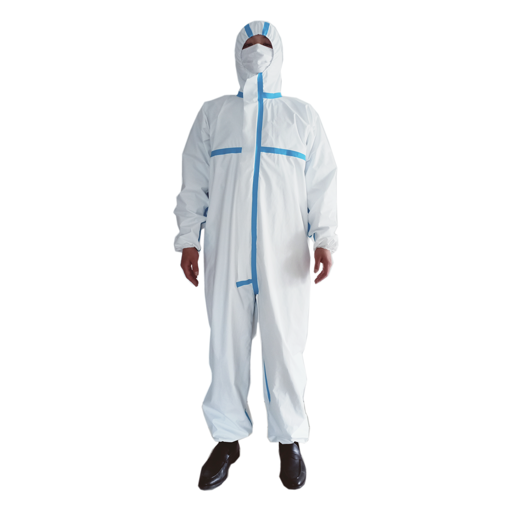 Coverall Disposable Anti Epidemic and Antibacterial Isolation Suit for Prevention from Viruses and Bacteria 1