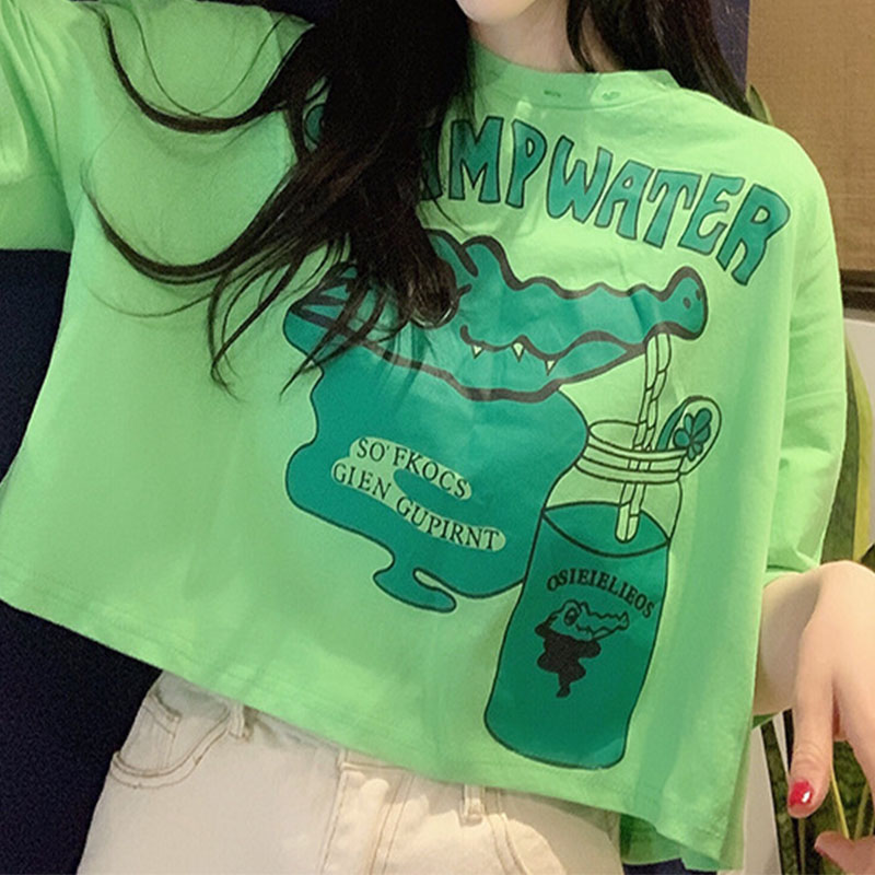 Short Sleeve Short T shirt Women Tops Casual Woman Tshirt O Neck Tee White Shirt Tees Clothes for Women Clothing Female T shirts in T Shirts from Women 39 s Clothing