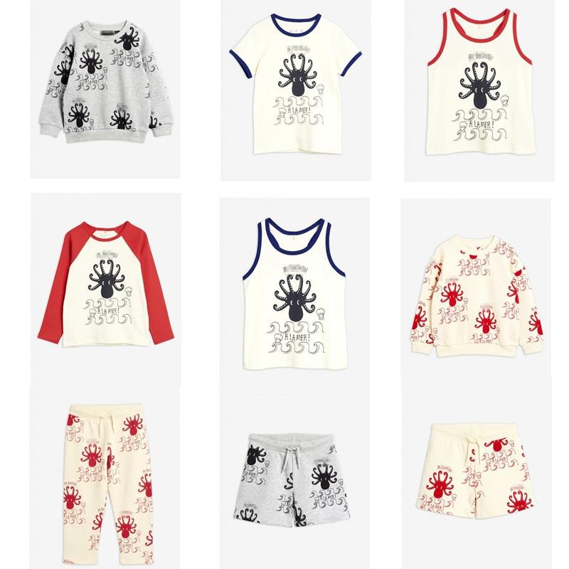 2021 Summer Children T-shirt Mini Brand Kids Short Sleeve Boy Alamer Octopus Casual Baby Girls Boys T Shirt Children Clothes 1