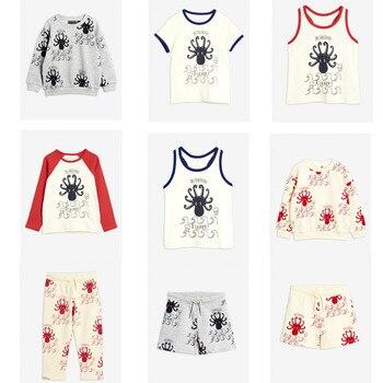 2020 Summer Children T-shirt Mini Brand Kids Short Sleeve Boy Alamer Octopus Casual Baby Girls Boys T Shirt Children Clothes 1