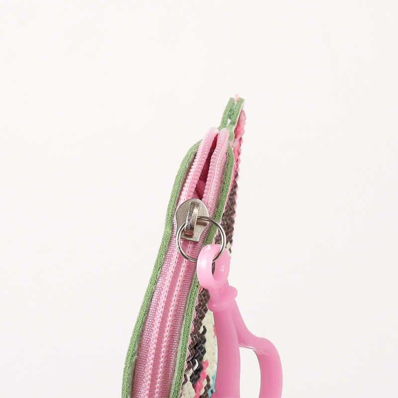 DIY Pintura de Diamante Em Forma de Especial Carteira Saco Bonito Dos Desenhos Animados Padrão Animal bolsa de Moedas Pingentes Chaveiro Bolsa Decoração do Bordado