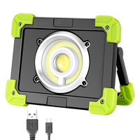 Portable Led Work Light Usb Rechargeable Camping Lights Outdoor Cob Floodlight For Emergency Fishing Hiking|Outdoor Tools| |  -