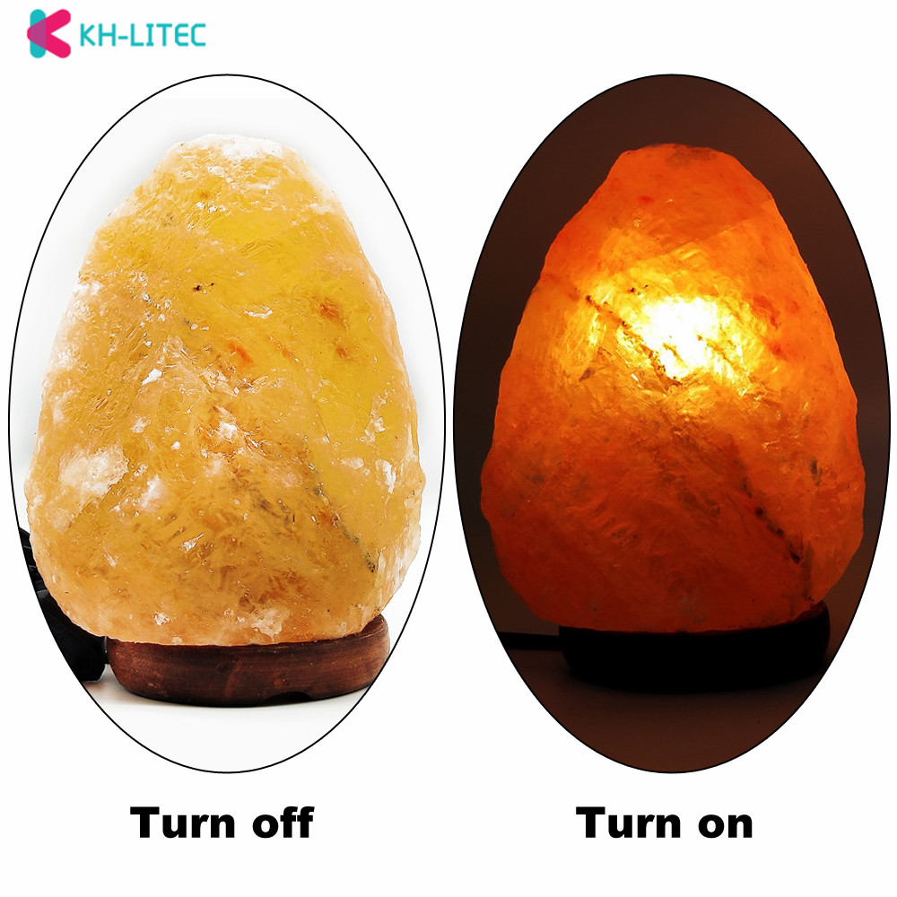Khlitec lâmpada de sal forma natural himalaia