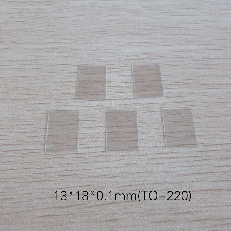 Natural Transparent Mica Sheet Mica Plate TO-220 13x18x0.1mm Thermal Conductive Mica Sheet Insulation Sheet