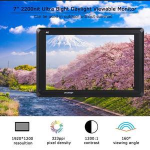 Image 2 - Feelworld FW279S 7 inch 3G SDI 4K HDMI DSLR Camera Field Monitor Ultra Bright 2200nit Full HD 1920x1200 LCD IPS for Outdoors New