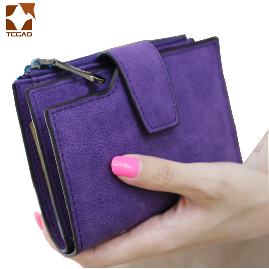 Short Wallet Women's Leather Genuine Small Zip Women's Purse Small Coin Sac Femme 2019 Luxury Brand Porte Feuille Ladies Wallet