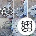 DIY Форма для мощения дома, сада, пола, дороги, бетон, ступенька, каменная дорожка, форма для патио, черный пластик
