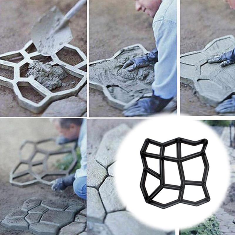 DIY Форма для мощения дома, сада, пола, дороги, бетон, ступенька, каменная дорожка, форма для патио, черный пластик|Формы для уличной плитки|   | АлиЭкспресс