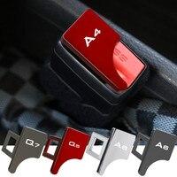 Hebilla oculta para cinturón de seguridad de asiento de coche, accesorios de coche, aleación de Zinc, clip para Audi Sline A3 A4 A5 A7 A8 Q3 Q5 Q7 Q8 TT RS, 1 ud./2 uds.
