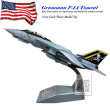 AMER 1/100 Scale USA F-14A/B AJ200 VF-84 Fighter Diecast Metal Military Plane Model Toy For Collection/Gift
