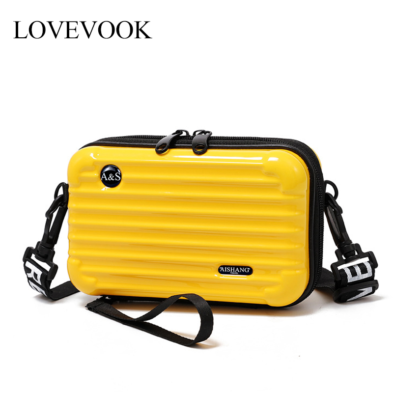 LOVEVOOK Women Handbag Fashion Crossbody Bags For Ladies 2019 Mini Suitcase Shape Make Up Bag For Travel Multifunctional Flap