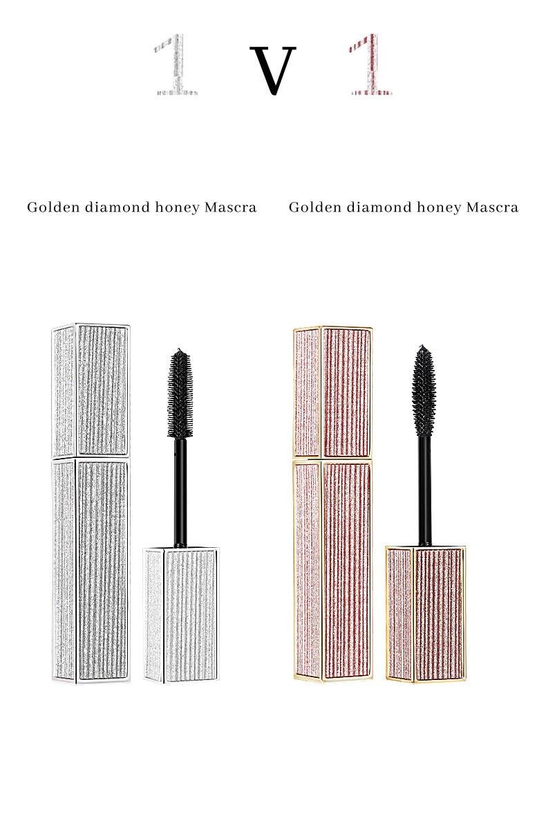 Водостойкая Черная тушь для ресниц, блестящая Алмазная тушь для ресниц, удлиняющая, толстая, быстро сохнет, качественная, длинная, 3D, для макияжа глаз
