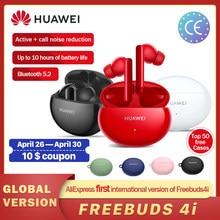 Versão global 2021 hauwei freebuds 4i fone de ouvido sem fio bluetooth 5.2 unidade dinâmica anc sem fio bluetooth para p40 lite