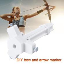 Adjustable Steel Fletching Jig DIY Fun Stick Feather Archery 3.5-10mm Arrow Shaft Liner ABS Hunting Accessoriese