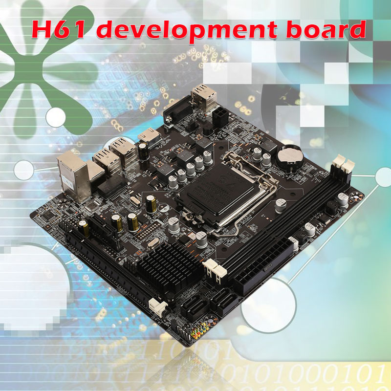 4 × Internal USB2.0 Mainboard Micro ATX Board 2×DDR3 6 × Rear USB2.0 Support Core I7 Micro ATX Board H61 PCI-E X16 Motherboard
