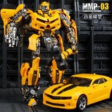 Yuexin transformação masterpiece abelha guerreiro mpm03 MPM 03 23 cm mmp03 liga anime figura de ação robô g1 coleção modelo brinquedos