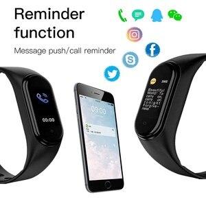 Image 3 - M5 relógio inteligente das mulheres dos homens monitor de freqüência cardíaca pressão arterial fitness rastreador smartwatch banda 5 esporte relógio para ios android