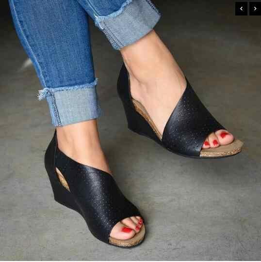 VERTVIE Plattform Sandalen Keile Schuhe Für Frauen Heels Alias Mujer Sommer Schuhe Clog Frauen Espadrilles Frauen Sandalen 2020