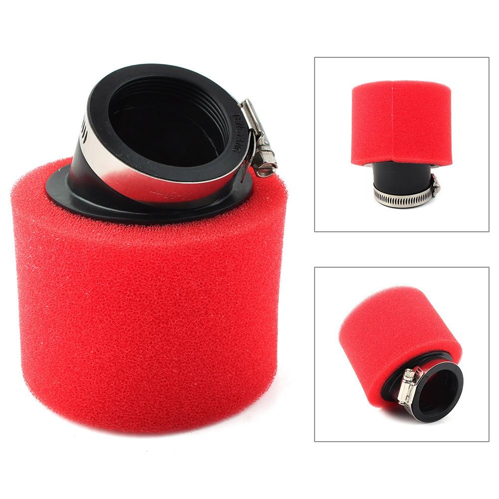Красный воздушный фильтр для мотоцикла, угол 50 мм, для квадроциклов, карт, мопедов, скутеров, внедорожных велосипедов