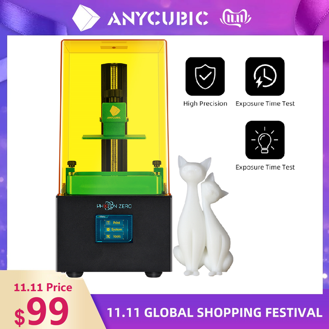 Anycubic 3D Printer Photon Serie Photon Nul 3d Printer Sla/Lcd Printer Quick Slice 405 Uv Hars 3d drucker Impressora