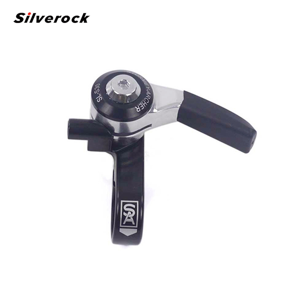SILVEROCK Aluminum Right Hand 3 Speed Shifter With Cable For Brompton 3SIXTY Folding Bike 80g