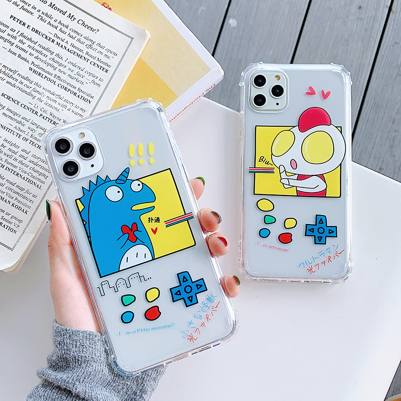 Salted Egg Superman Cute Transparent Soft Silicone TPU Phone Case for iPhone 6s 7 8 Plus X XR XS Max 11 11Pro 11Pro Max