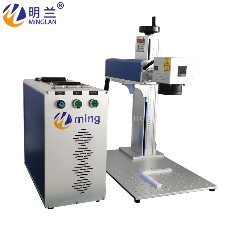 Mobile Phone Shell Picture Text Engraving Machine/ MINGLAN 20w Fiber Laser Marking Machine