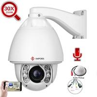 2MP 1080P 30X 2 Way Audio Auto Tracking PTZ IP CAMERA 20X Outdoor Waterproof POE CCTV Security Camera H.265 IR 150M P2P Onvif