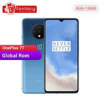 Global ROM OnePlus 7T 8GB 128GB Smartphone Snapdragon 855 Plus AMOLED 90Hz pantalla 48MP cámaras gran batería UFS 3,0 Warp cargo