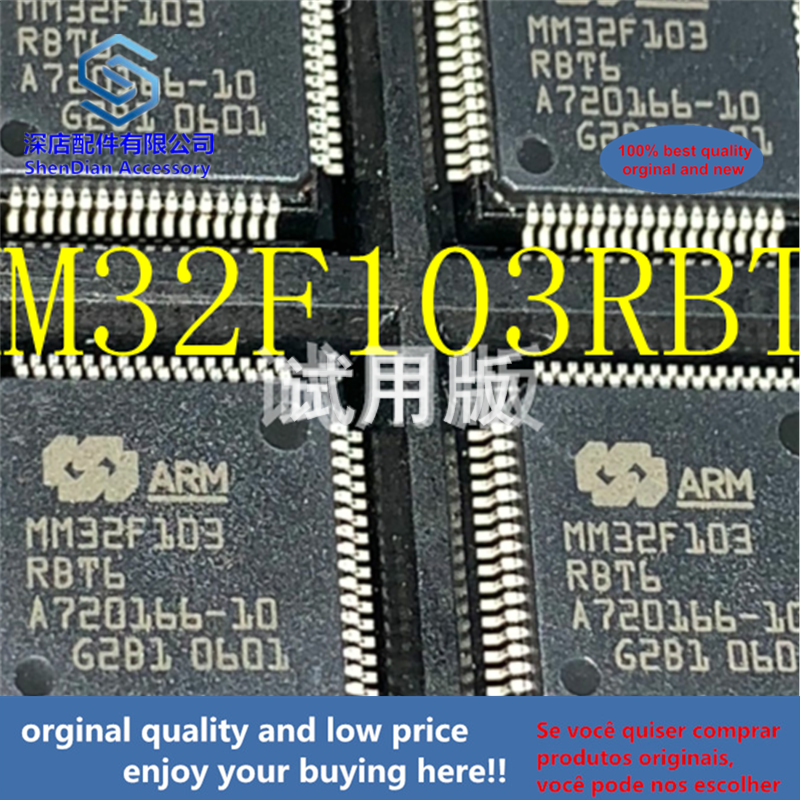 5pcs 100% Orginal And New MM32F103RBT6 MM32F103 QFP64 Best Qualtiy