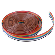 Kabel 10 MANIER Platte Kabel Kleur Rainbow Ribbon Cable Draad 5 meters/partij Lint(China)