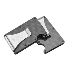 Id-Card-Case Wallet Bank-Card Compact Carbon-Fiber Anti-Theft Men's Large-Capacity Luxury