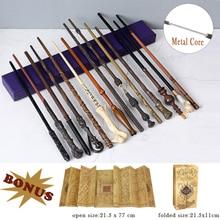 28 видов Поттер Волшебная палочка s с подарочной коробкой Дамблдор металлический сердечник волшебная палочка Harried волшебная палочка с бонусом для рождественского подарка