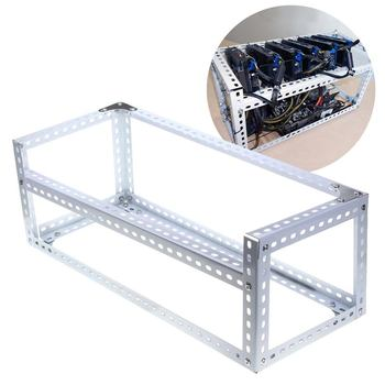 6 GPU Open Air Mining Case Miner Frame Mining Crypto Coin Stackable Aluminum Miner Rig Case Holder Rack For ETH BTC 1