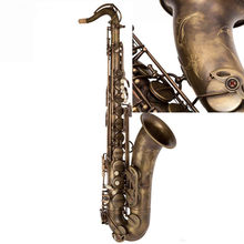 L & k marca saxofone tenor profissional b plana cobre antigo saxofone instrumentos musicais simulação inscrição esculpida