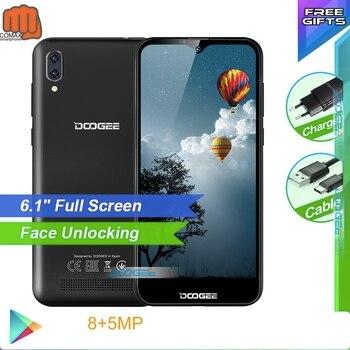 Перейти на Алиэкспресс и купить Doogee смартфон с 6,1-дюймовым дисплеем, четырёхъядерным процессором MT6580A/WA, ОЗУ 1 ГБ, ПЗУ 16 ГБ, 3400 мАч, X90
