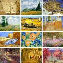 Gatyztory рамка пейзаж diy картина по номерам Абстрактная живопись