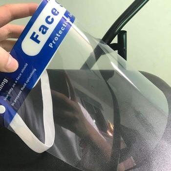 1pc maschera contro goccioline Splash proof a prova di Polvere Maschera di Testa montato Trasparente Protect Maschera di Protezione Regolabili viso Maschera-in Copriscarpe da Casa e giardino su