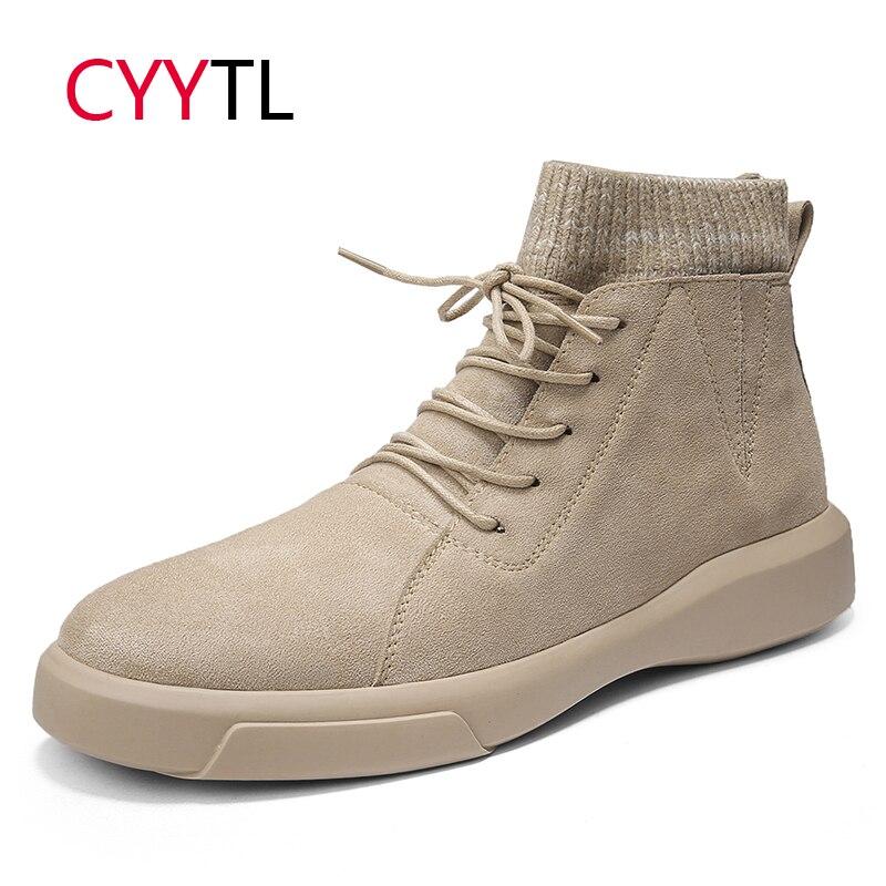 CYYTL offre spéciale en cuir véritable hommes chaussures doux cheville Martin baskets de sécurité haut de gamme hiver Style britannique Botas Masculina Hombre