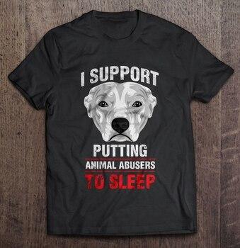 Koszulka męska I wsparcie wkładanie zwierząt do snu-koszulka damska w wersji Pitbull