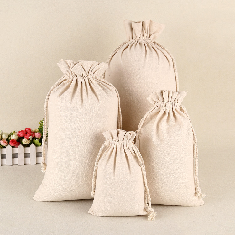 Drawstring Bag Jewelry/Makeup/Candy Packaging Wedding/Party Gift Bag Canvas Drawstring Bag Food Storage Bag Organizer Storage