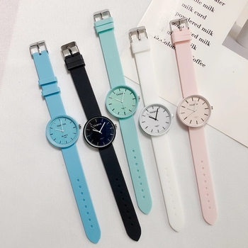 2020 New Fashion Women's Watches Ins Trend Candy Color Wrist Watch Korean Silicone Jelly Reloj Mujer Clock Gifts for Women - discount item  50% OFF Women's Watches