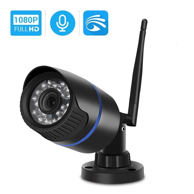 Hamrolte HD 1080P Yoosee واي فاي كاميرا رصاصة في الهواء الطلق Onvif كاميرا لا سلكية تسجيل الصوت كشف الحركة مع فتحة للبطاقات SD