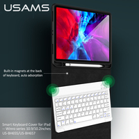 USAMS Case for iPad Pro 2020 Air 2020 2019 2018 2017 10.2 10.5 9.7 Air 1 2 3 4 Smart Cover with Pencil Holder Keyboard For iPad