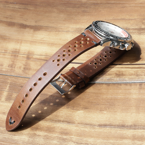 Image 5 - Onthelevel Porous Leather Strap Watch Band 19mm 20mm 22mm Watchbands Breathable Watch Band With Quick Release Bars #D