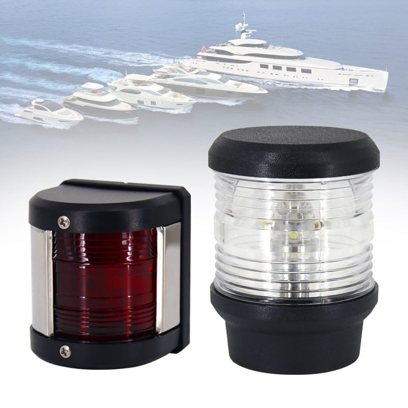 Waterproof 65 Marine Boat Yacht Light Sidelight 12V LED Navigation Light Navigation Anchor Light 360 Degree All Round Boat Light