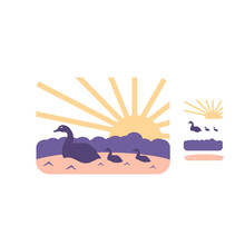 Naifumodo Sunrise Metal Cutting Dies Duck River Dies for Craft Die Scrapbooking Embossing Stencil DIY Die Cut Card Decoration гироскутер smart balance suv premium 10 5 огонь и лед