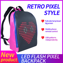 Edison LED Backpack Led Display Backpack Smart WIFI Version APP Control Computer Backpack with customizable LED screen